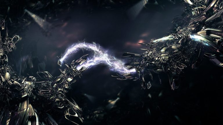 Lightning Beams WQHD 1440P Wallpaper