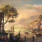 anno 1404 venice painting wqhd 1440p wallpaper