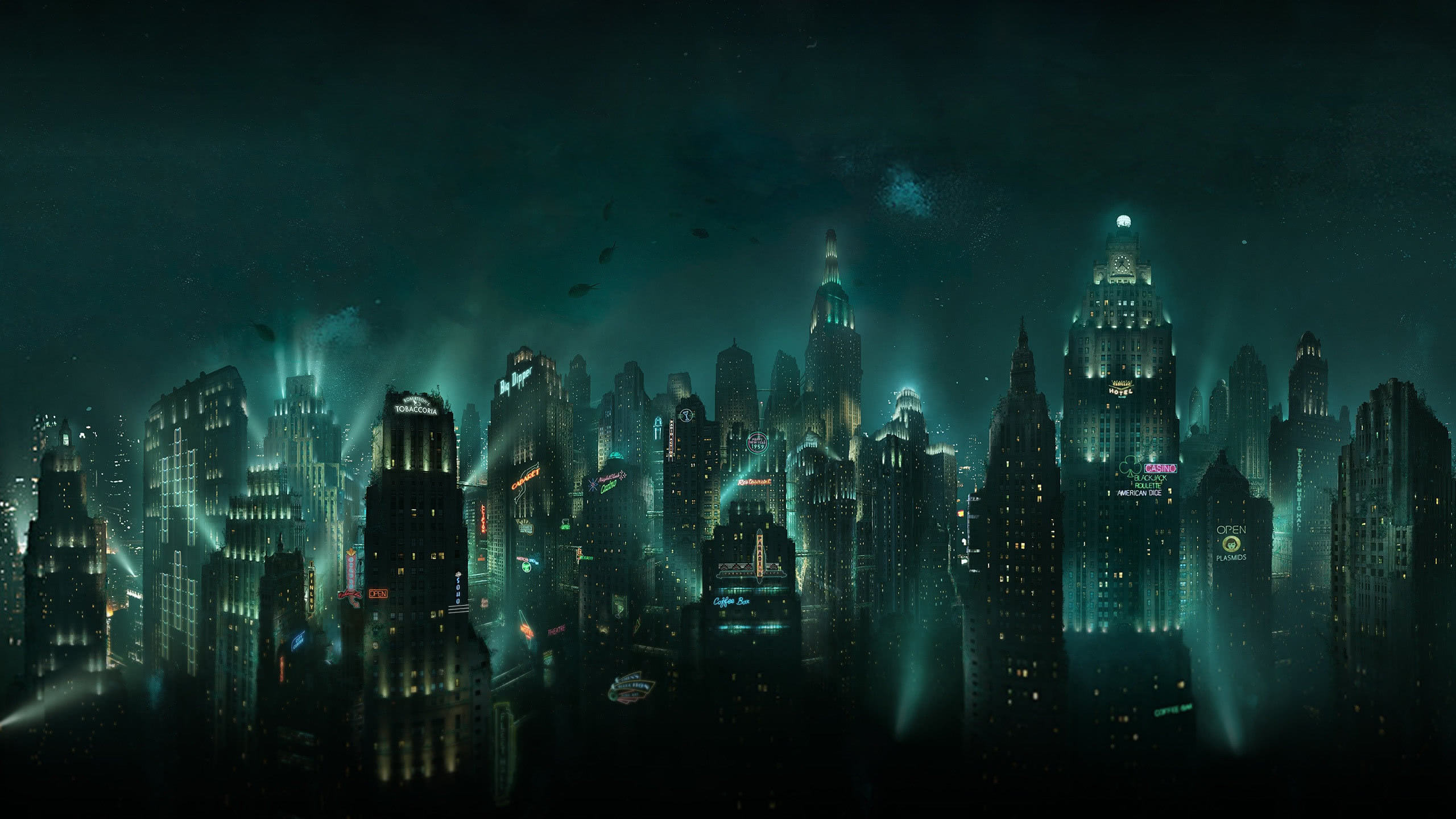 bioshock rapture city wqhd 1440p wallpaper