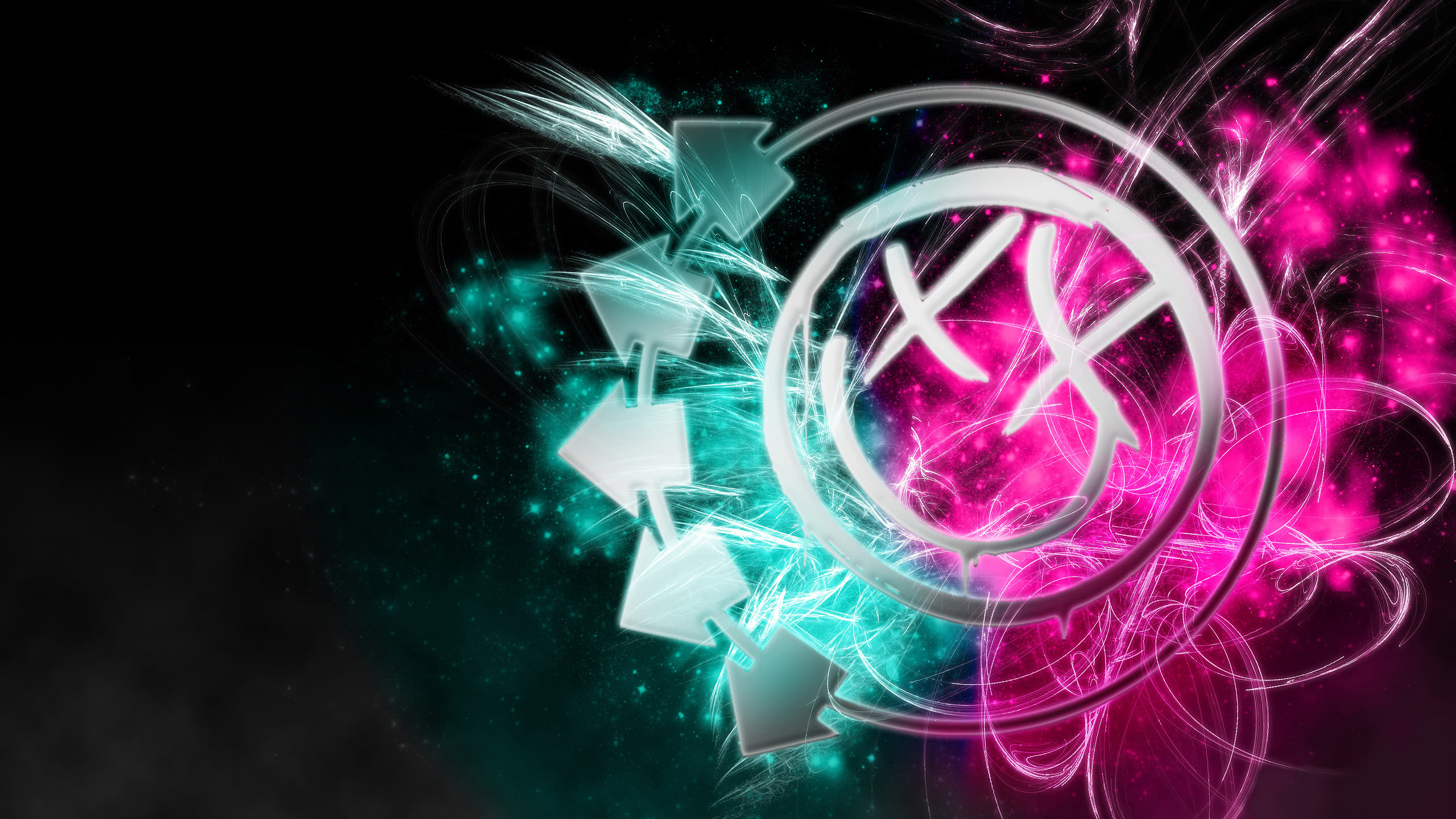 blink 182 logo wqhd 1440p wallpaper