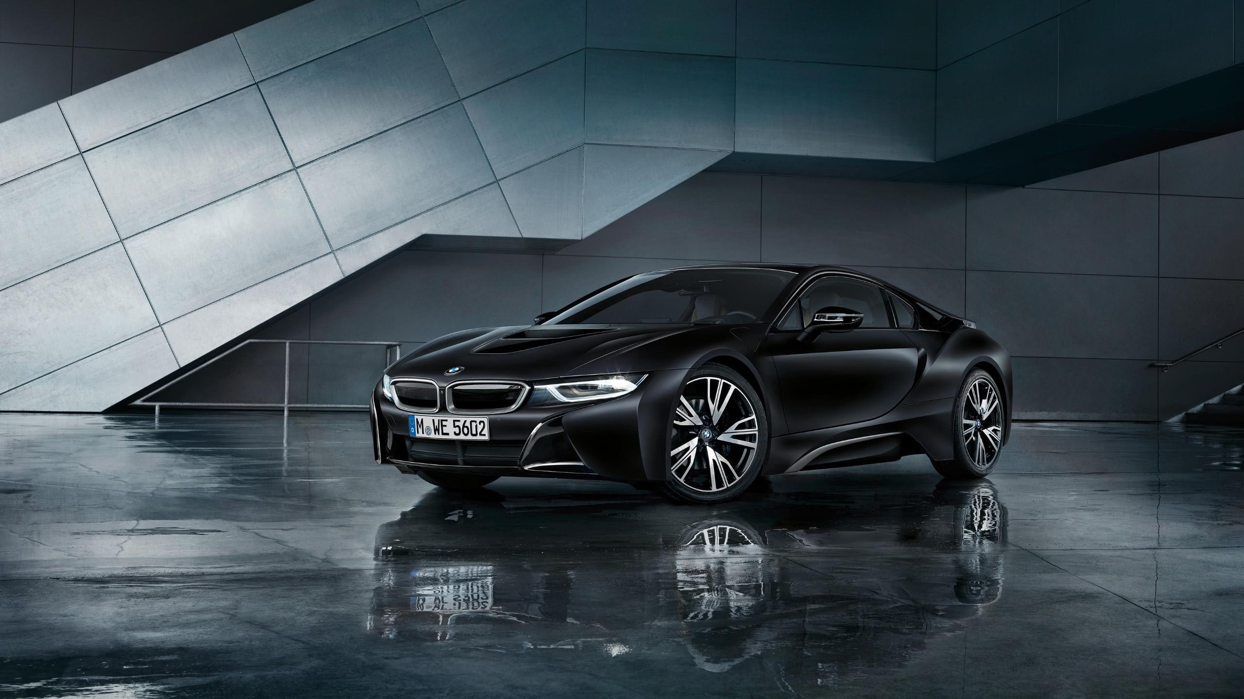 BMW I8 Black WQHD 1440P Wallpaper - Gilded Wallpapers