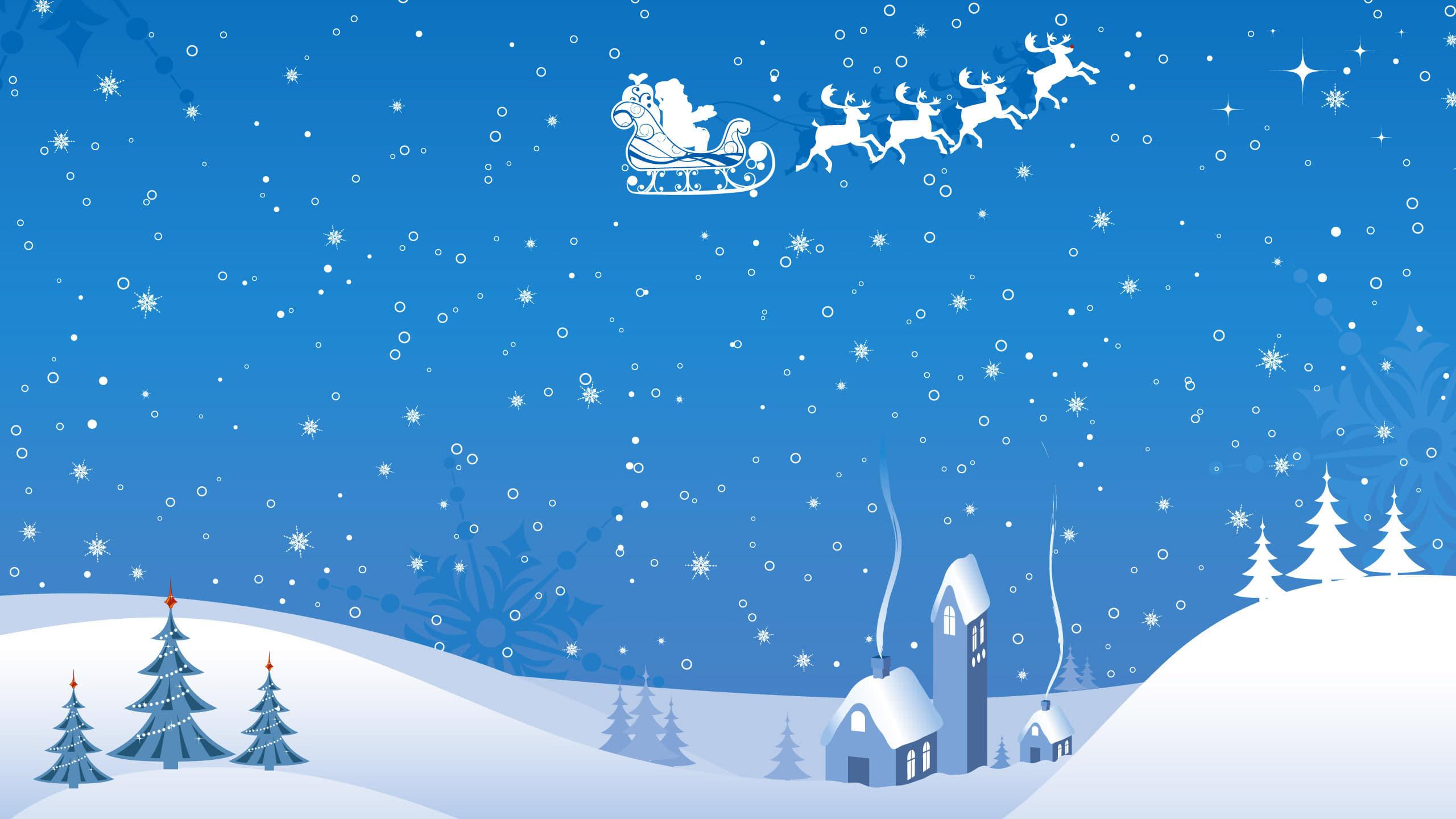 christmas santa claus wqhd 1440p wallpaper