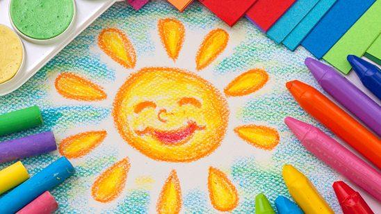crayon drawing wqhd 1440p wallpaper