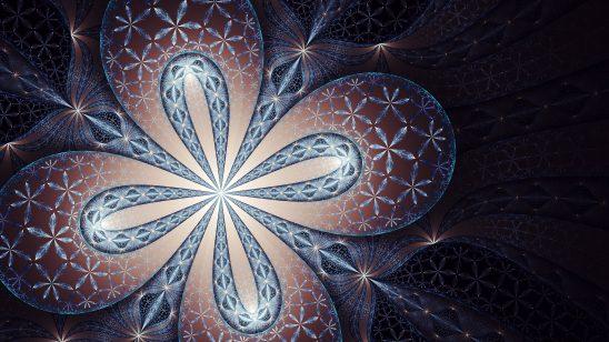 dark floral fractal wqhd 1440p wallpaper