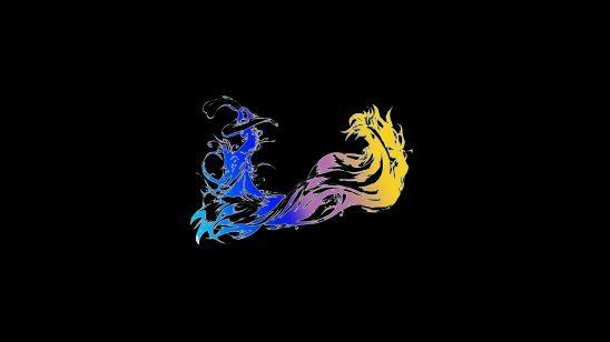 final fantasy x logo wqhd 1440p wallpaper