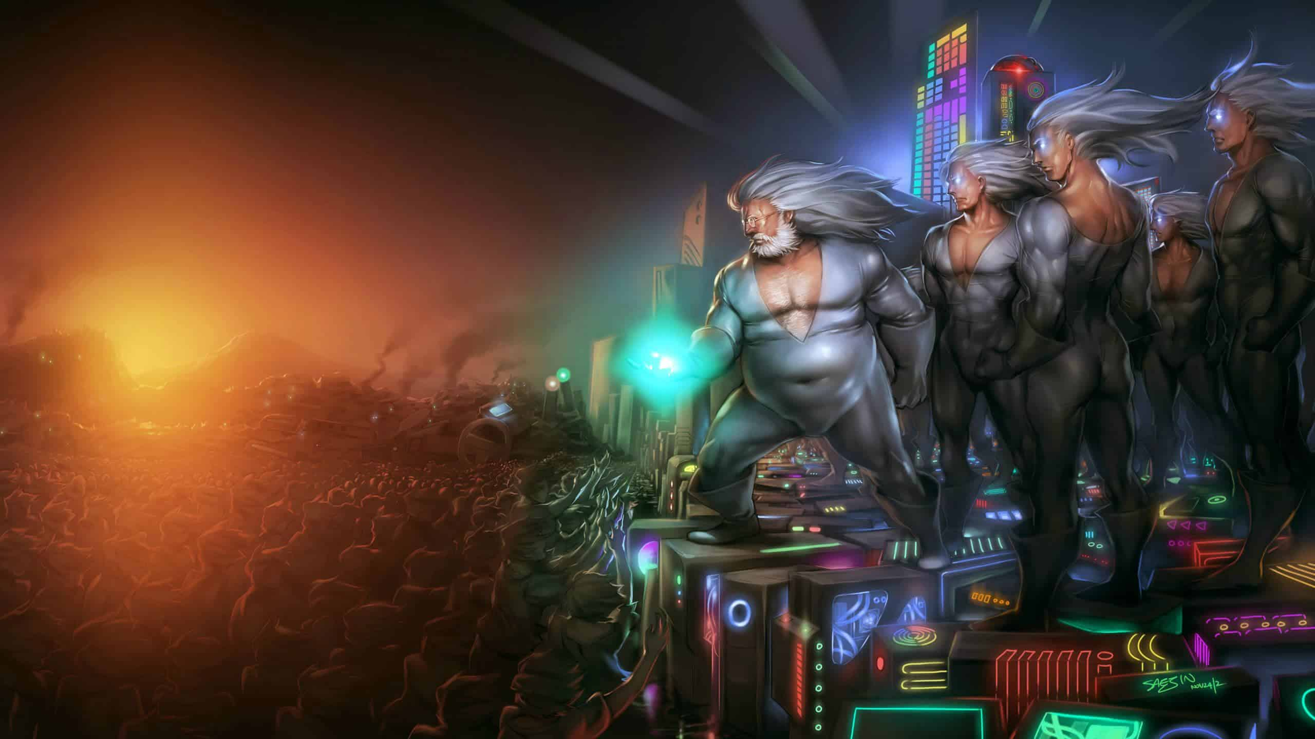 gabe newell leads the glorius pc gaming master race wqhd 1440p wallpaper