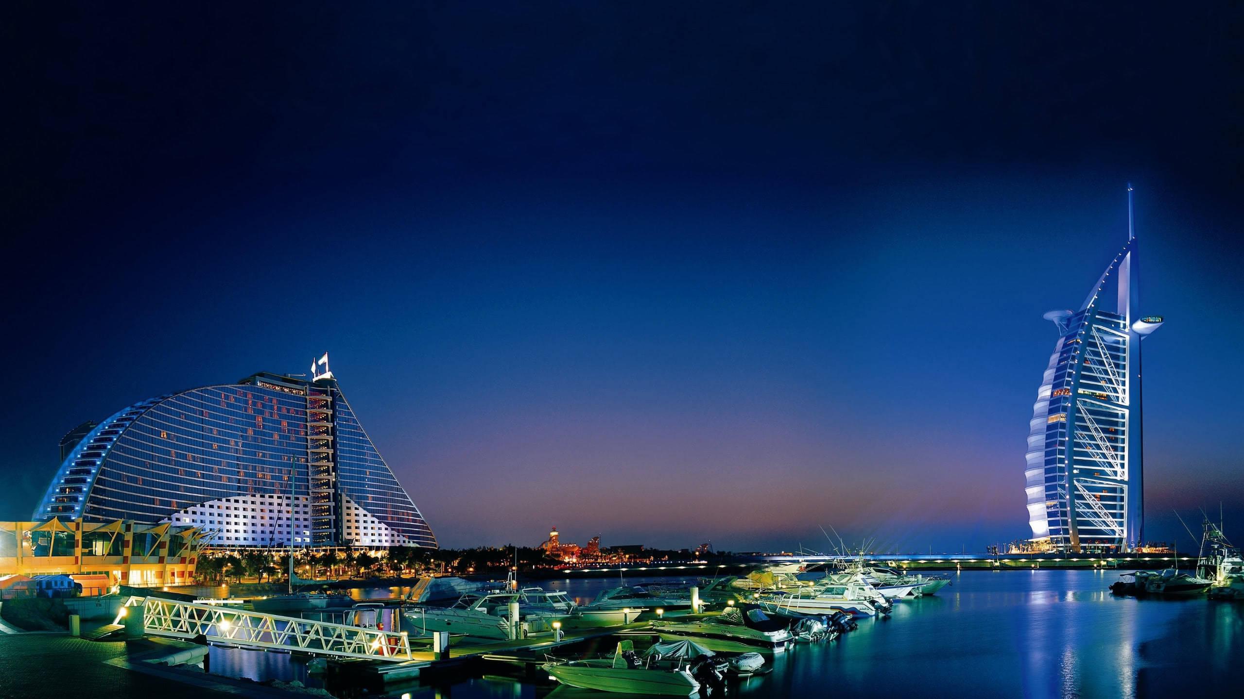 jumeirah beach hotel burj al arab dubai united arab emirates wqhd 1440p wallpaper