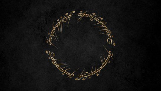 lord of the rings elvish text wqhd 1440p wallpaper