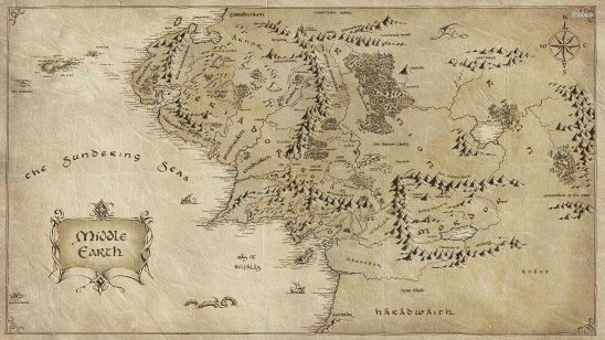 lord of the rings middle earth map wqhd 1440p wallpaper