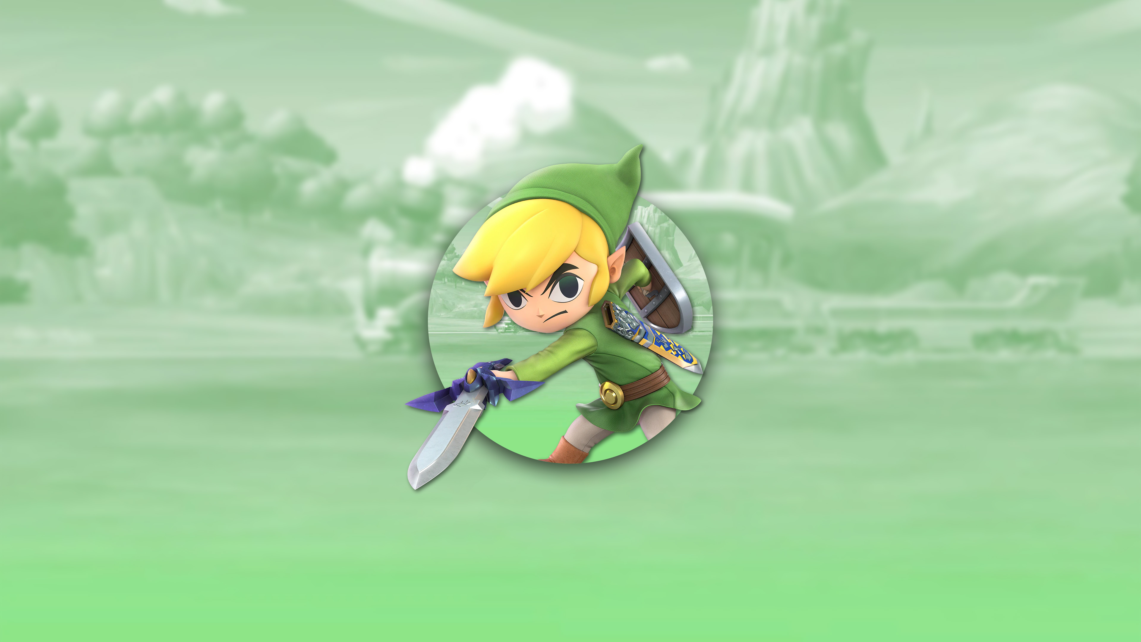 super smash bros ultimate toon link uhd 4k wallpaper