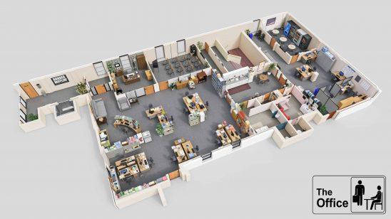 the office floor plan uhd 4k wallpaper