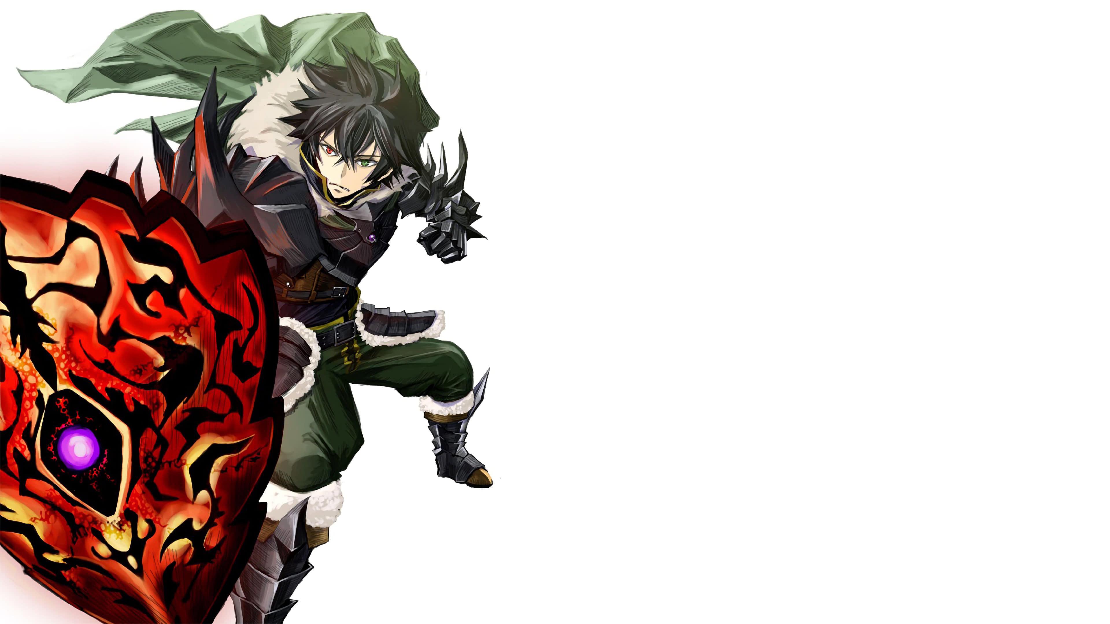 the rising of the shield hero naofumi iwatani curse shield uhd 4k wallpaper