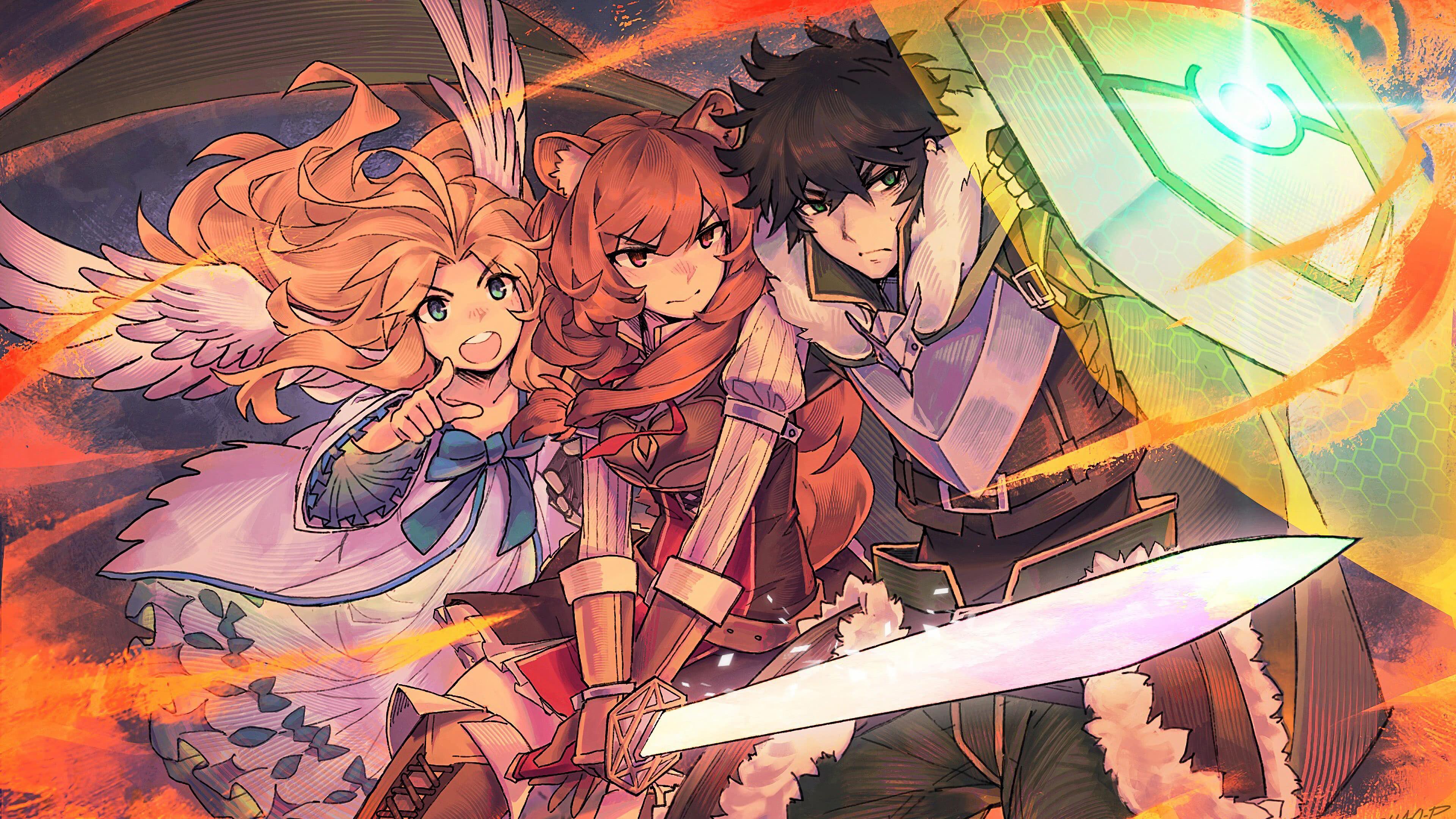 the rising of the shield hero naofumi iwatani raphtalia filo uhd 4k wallpaper