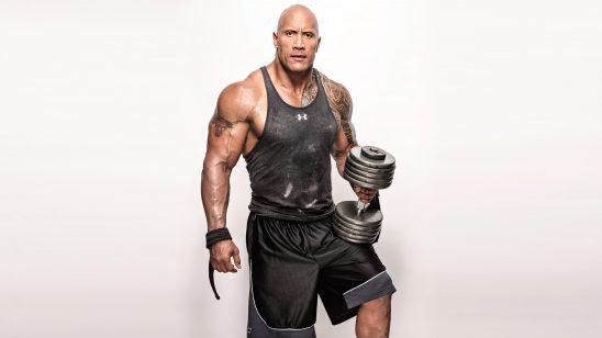 the rock dwayne johnson workout uhd 4k wallpaper