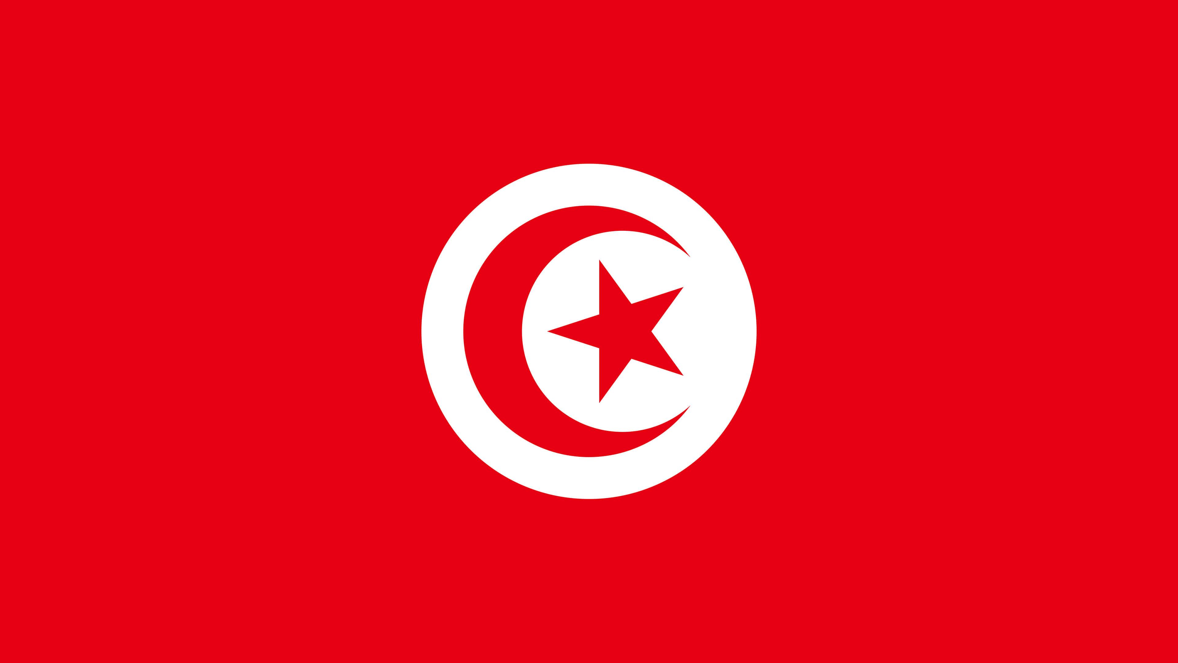 tunisia flag uhd 4k wallpaper