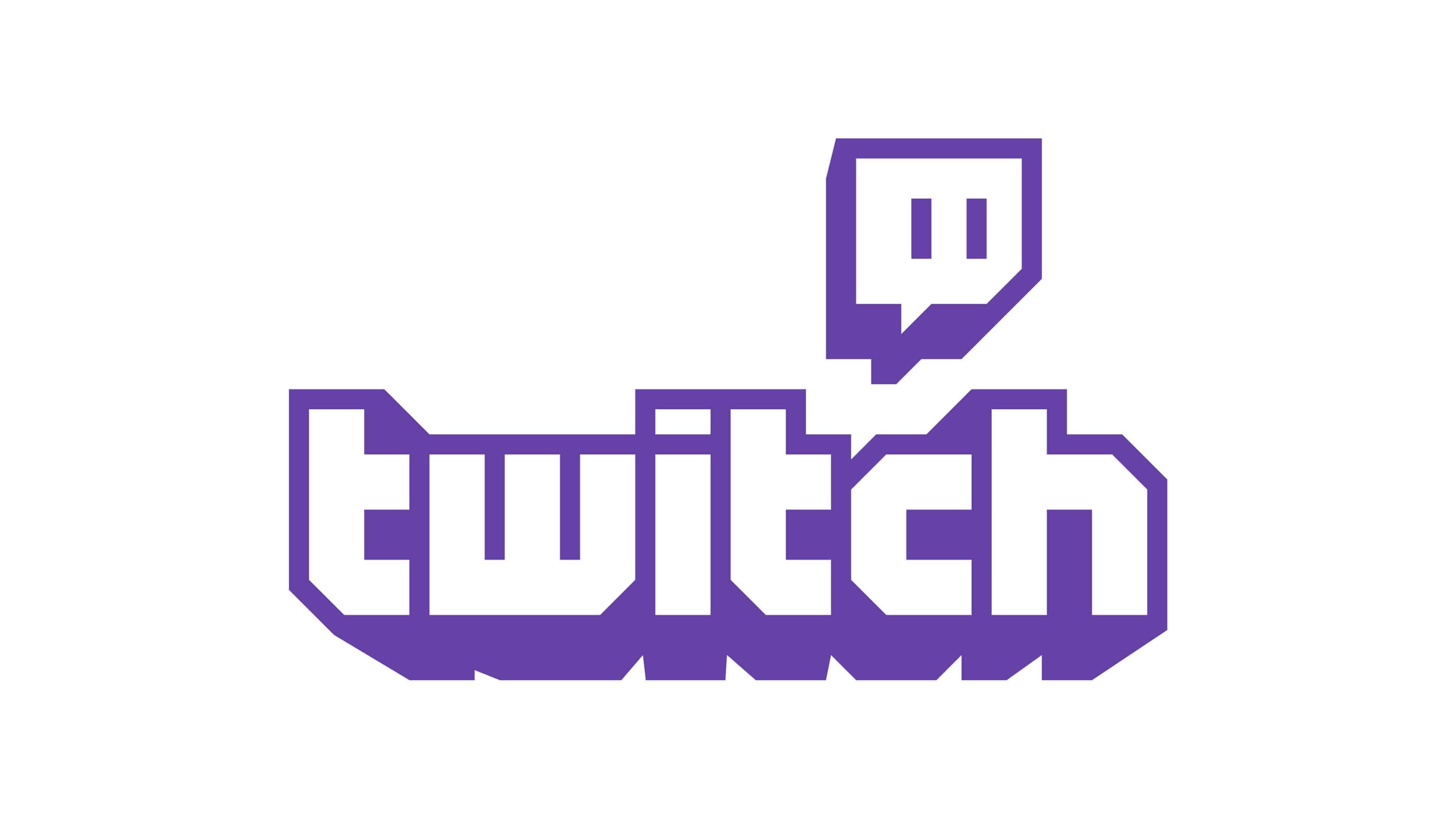 twitch logo uhd 4k wallpaper