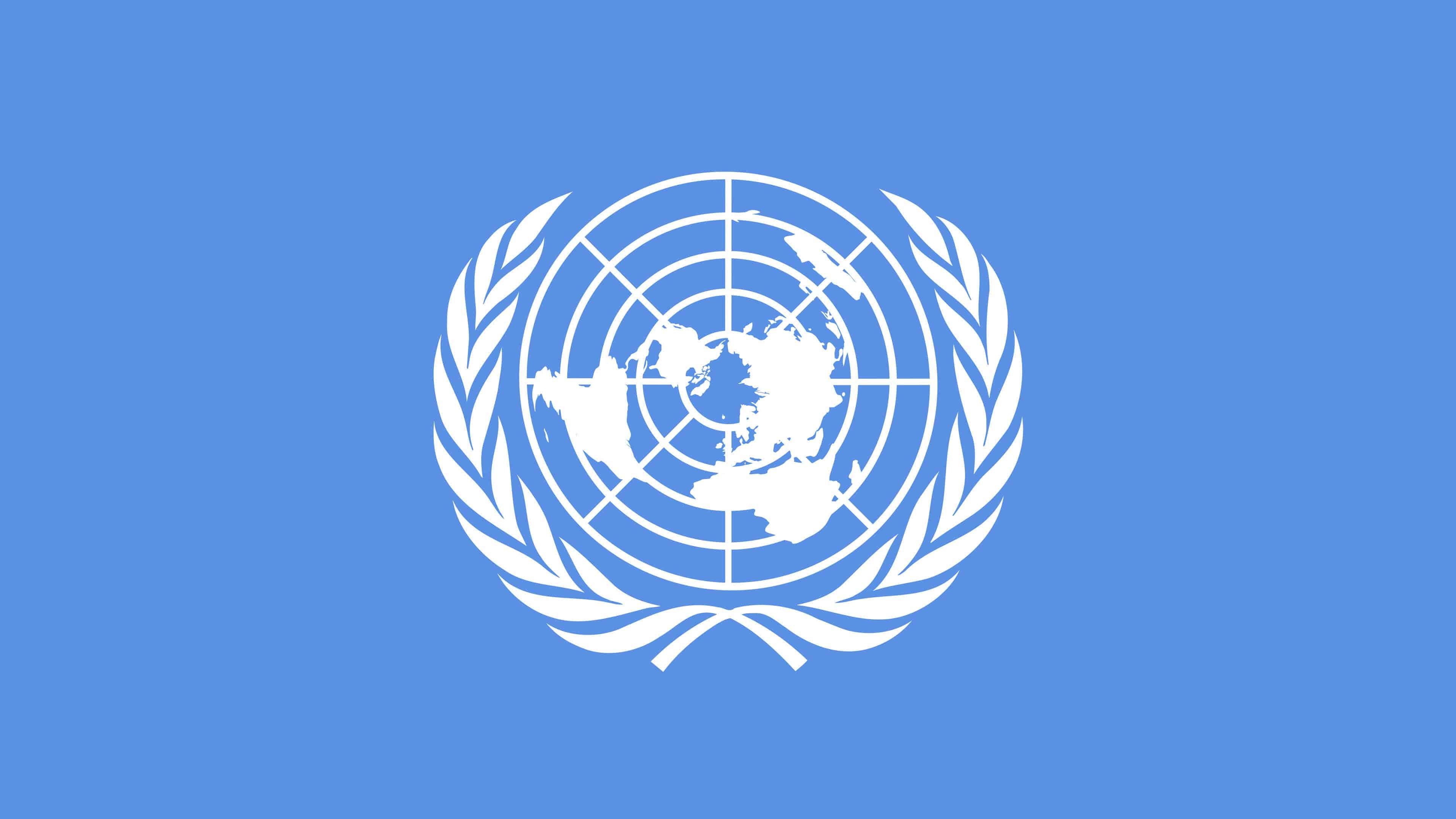 united nations logo uhd 4k wallpaper