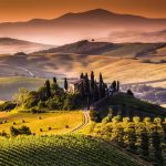 vinyard and mountains tuscany italy uhd 4k wallpaper