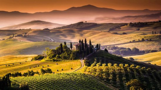 vinyard and mountains tuscany italy uhd 4k wallpaper