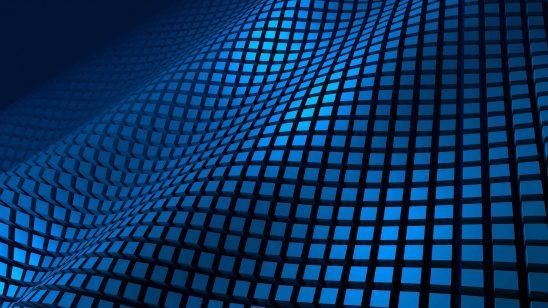 wavy cube pattern blue uhd 4k wallpaper