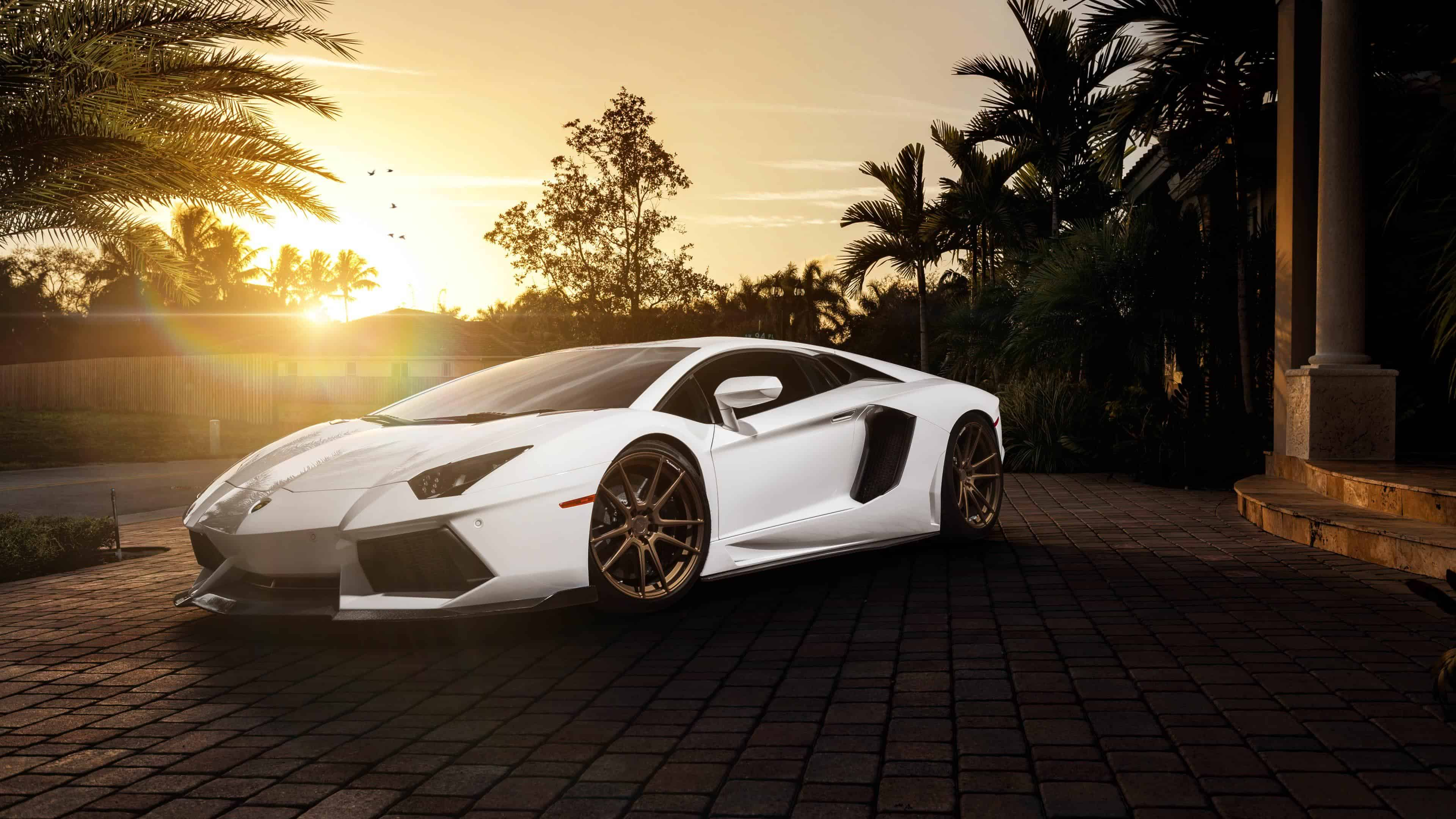 white lamborghini uhd 4k wallpaper