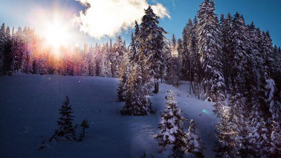 winter in tirol reosrt austria 4k wallpaper