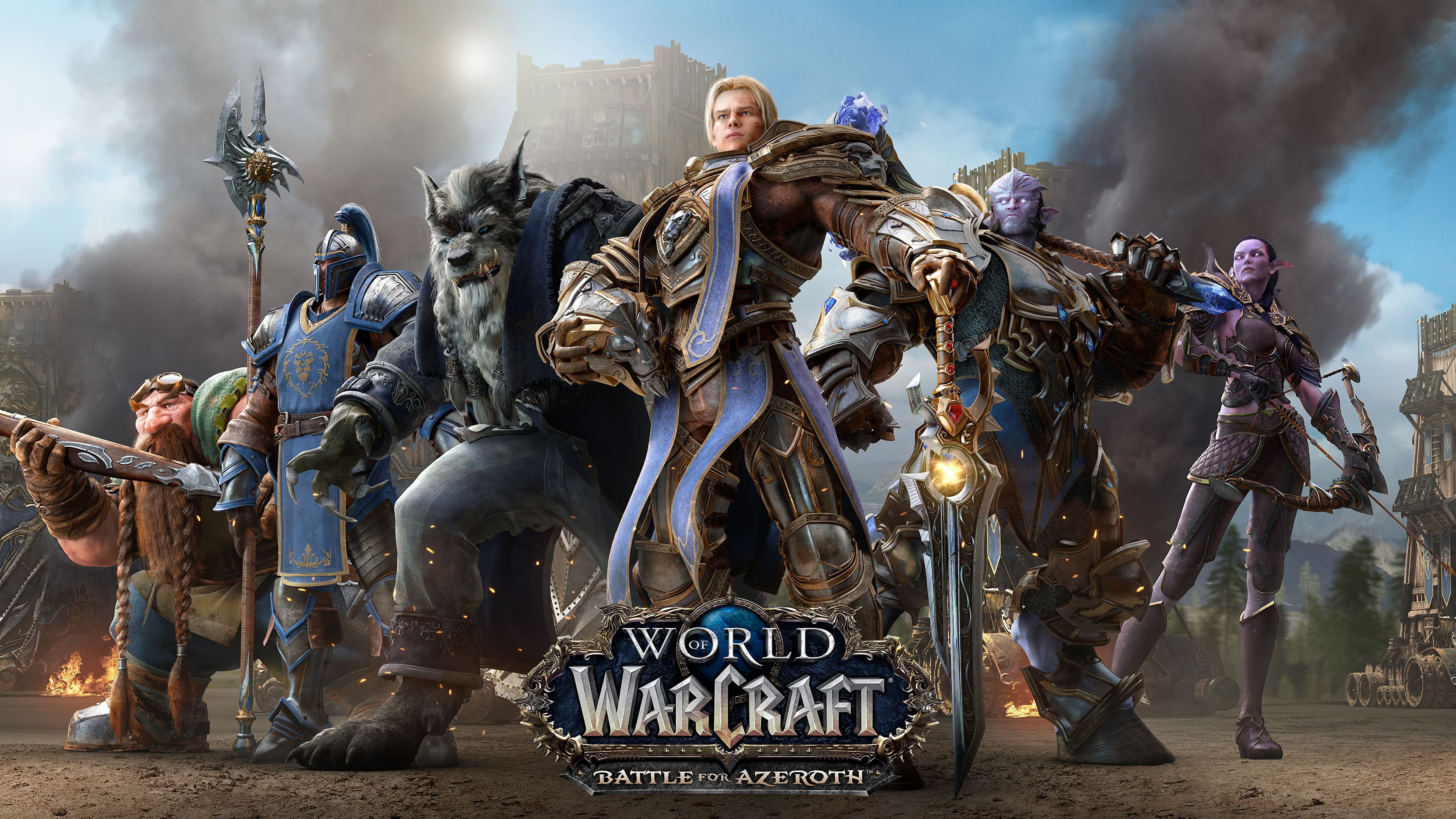 world of warcraft battle for azeroth alliance uhd 4k wallpaper