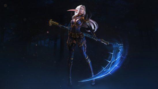 world of warcraft night elf scythe uhd 4k wallpaper