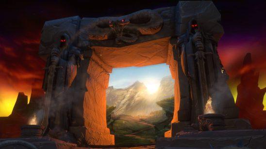 world of warcraft the dark portal uhd 4k wallpaper