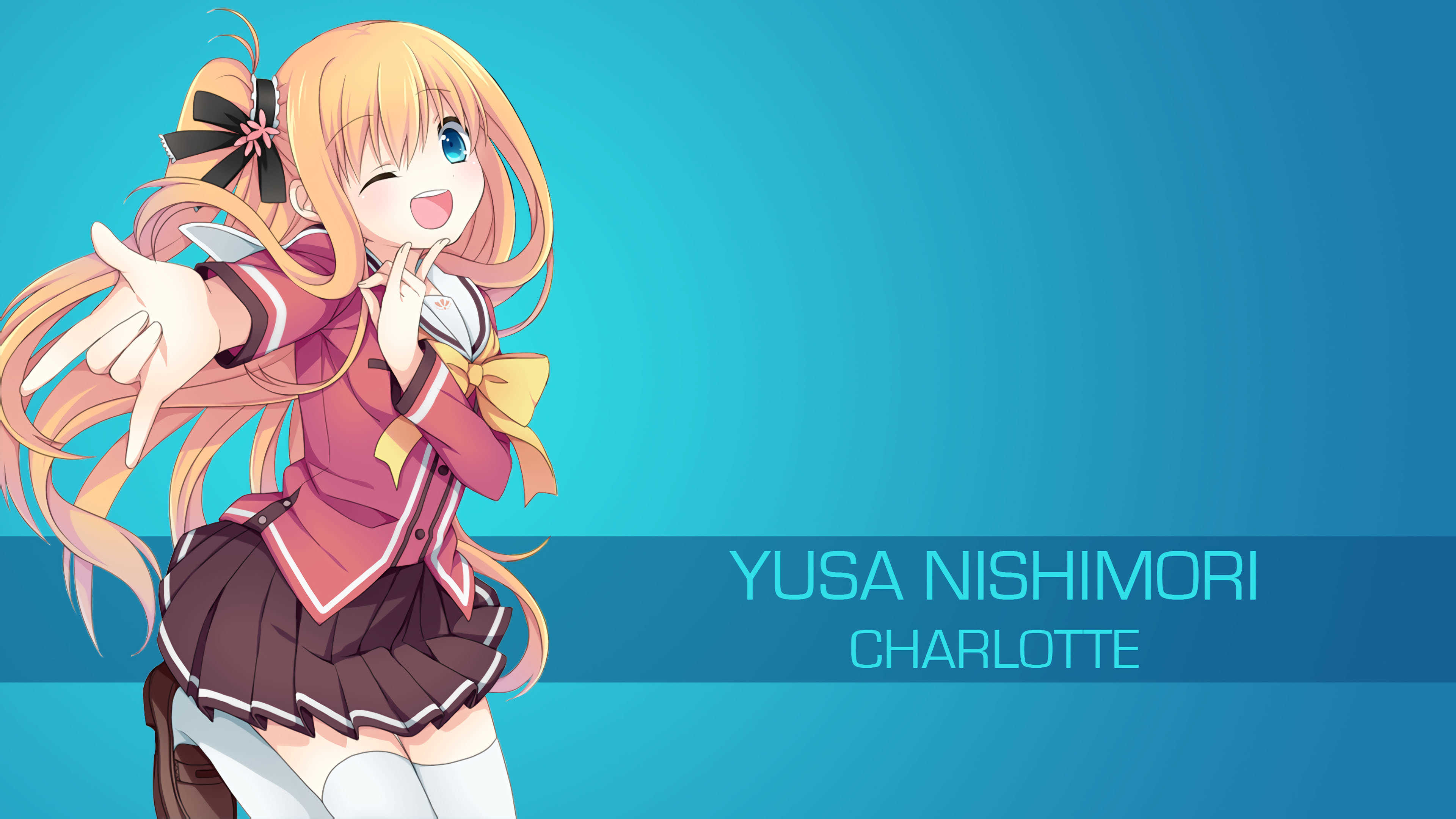 yusa nishimori charlotte uhd 4k wallpaper