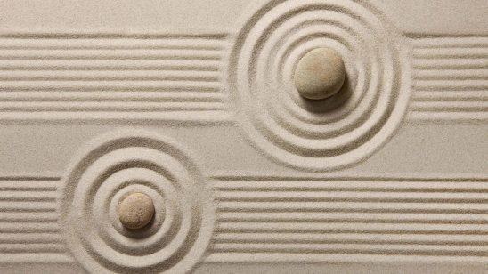 zen sand japanese rock garden uhd 4k wallpaper